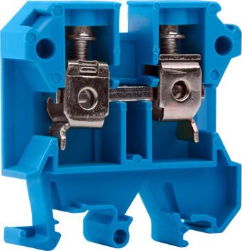Клеммная колодка наборная на din -рейку e.tc.din.pro.16.blue, синий Енекст [p049021]