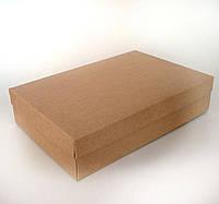 Коробка подарочная из крафт картона, 350х250х50 мм.