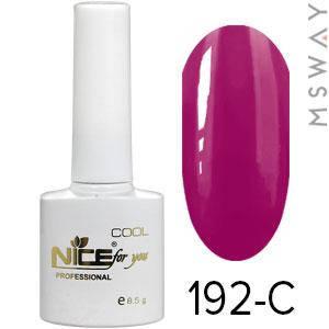 NICE Гель-лак Cool белый флакон 8.5ml Тон 192-C вишнево винная эмаль, фото 2