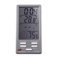 Термометр DC-803 + гигрометр, часы, будильник