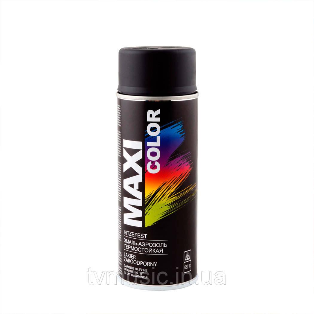 Термостойкая краска Maxi Color MX0008 Черная 400 мл