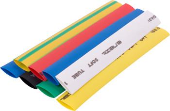 Набор трубок термоусадочных e.termo.stand.set.8.4, (8 цветов), 100 мм, 24 шт. ENEXT [s063004]