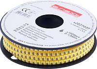 """Маркер кабельный e.marker.stand.0.1.5.6, 0-1,5 кв.мм, """"6"""", 1000 шт Енекст [s2037037]"""