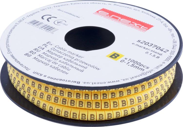 "Маркер кабельный e.marker.stand.0.1.5.B, 0-1,5 кв.мм, ""B"", 1000 шт ENEXT [s2037042]"