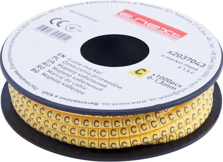 "Маркер кабельный e.marker.stand.0.1.5.C, 0-1,5 кв.мм, ""C"", 1000 шт ENEXT [s2037043]"