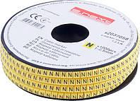 """Маркер кабельный e.marker.stand.1.2.5.N, 1-2,5 кв.мм, """"N"""", 1000 шт ENEXT [s2037058]"""