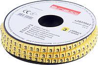 """Маркер кабельный e.marker.stand.2.4.3, 2-4 кв.мм, """"3"""", 500 шт Енекст [s2037062]"""