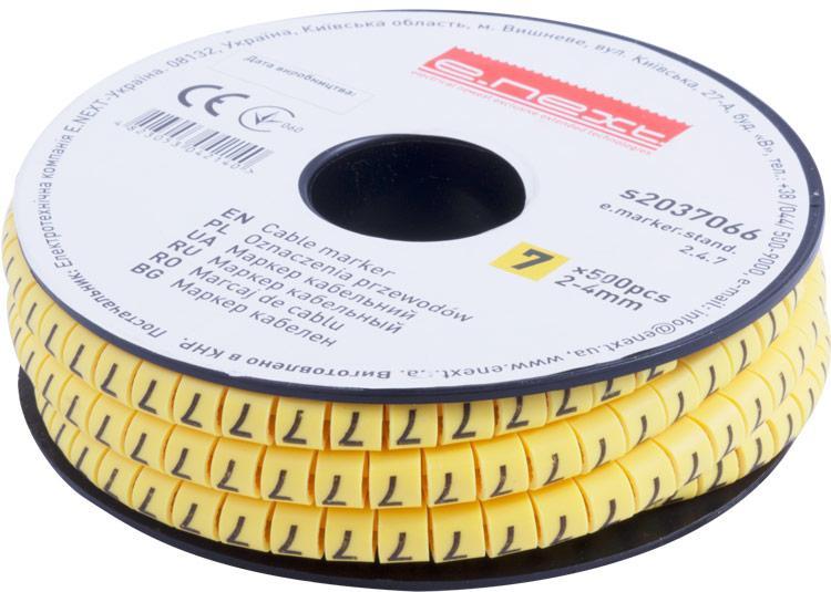 "Маркер кабельный e.marker.stand.2.4.7, 2-4 кв.мм, ""7"", 500 шт ENEXT [s2037066]"