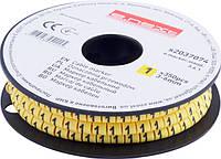 "Маркер кабельный e.marker.stand.3.6.1, 3-6 кв.мм, ""1"", 350 шт ENEXT [s2037074]"