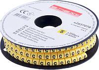 "Маркер кабельный e.marker.stand.3.6.5, 3-6 кв.мм, ""5"", 350 шт ENEXT [s2037078]"