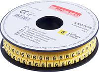 "Маркер кабельный e.marker.stand.3.6.6, 3-6 кв.мм, ""6"", 350 шт ENEXT [s2037079]"
