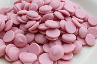 Шоколадные чипсы розовые (1 кг)