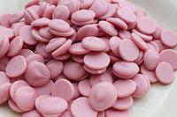 Шоколадные чипсы розовые (15 кг)