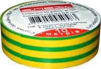 Ізолента із самозгасаючого ПВХ, жовто-зелена (10м) E.NEXT [p0450007]