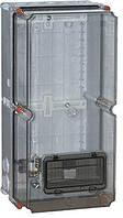 Коробка монтажная пластиковая zp50 IP55 (505*250*204) c окном под 8-мод. Енекст [9703-000]