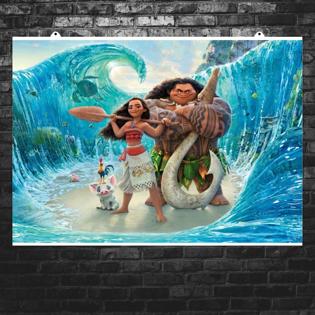 "Постер ""Океан расступился"", Моана. Размер 60x43см (A2). Глянцевая бумага"