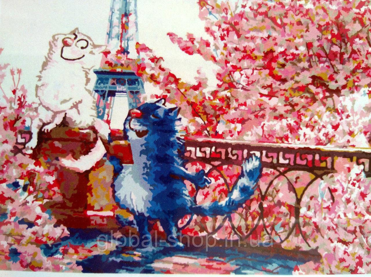 Свидание в Париже КНО 4047 Идейка картина по номерам  ,40*50 см