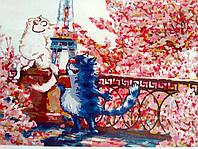 Свидание в Париже КНО 4047 Идейка картина по номерам  ,40*50 см, фото 1