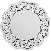 Салфетки бумажные круглые ажурные Ø 300 мм (уп 100 шт)