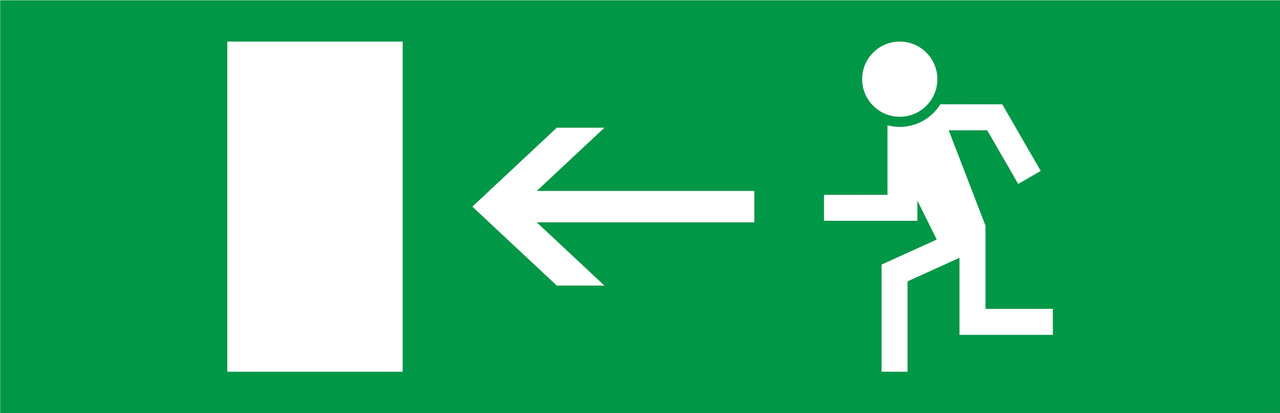 """Пиктограмма """"Стрелка влево"""" к аварийным светильников 500L e.pict.left.310.100 ENEXT [l0660090]"""
