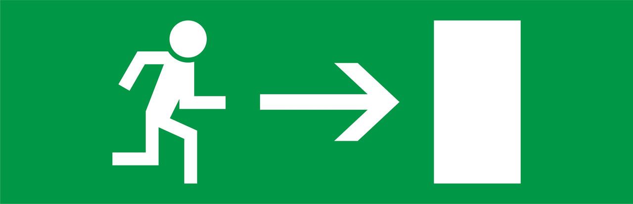 """Пиктограмма """"Стрелка вправо"""" к аварийным светильников 500L e.right.310.100 ENEXT [l0660091]"""
