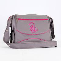 Сумка для коляски Baby Breeze 0350 графит с малиновым кантом - 156102