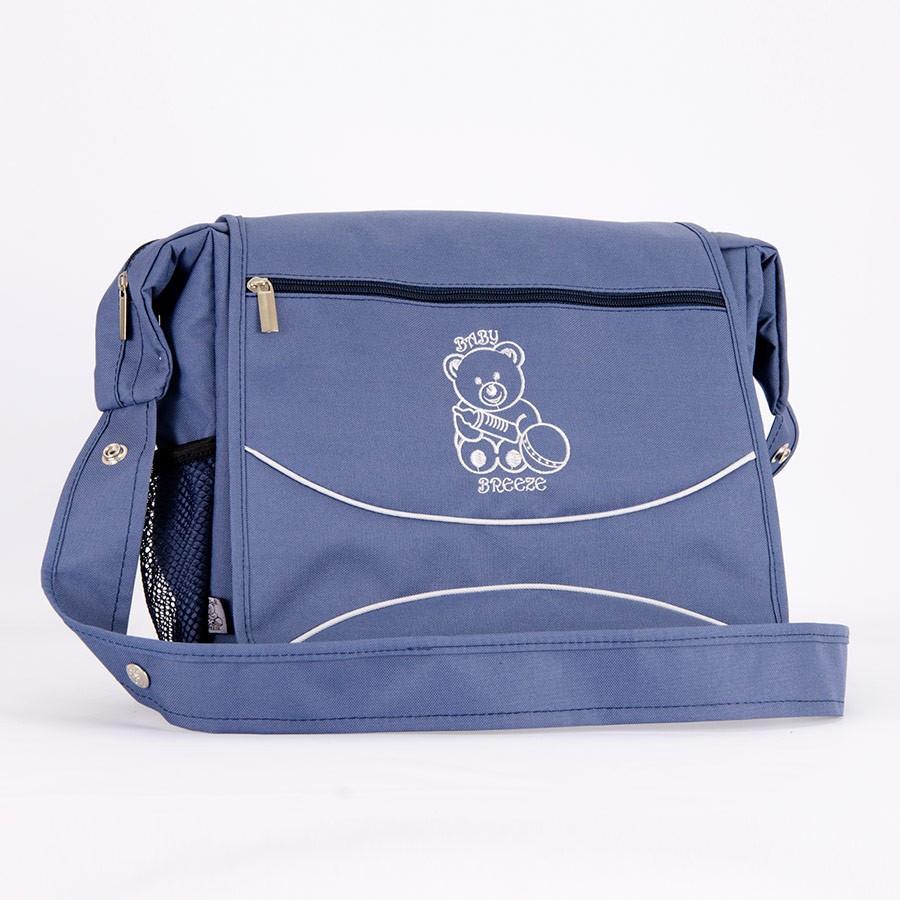 Сумка для коляски Baby Breeze 0350 серо-голубая - 156074