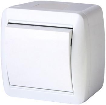 Выключатель одноклавишный e.aqua.1111.gr для внешнего монтажа, IP44 ENEXT [s035051]