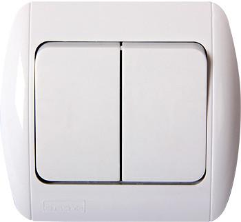 Выключатель e.install.stand.812 двухклавишный c рамкой ENEXT [s035023]