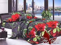 Полуторный комплект постельного белья из ренфорса R621 Красные розы