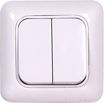 Выключатель двухклавишный, 10А, 250В ENEXT [205]