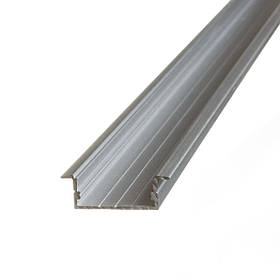 Алюминиевый профиль врезной широкий двойной для светодиодной ленты Код.59608