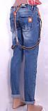 Женские джинсы-бойфренды с подтяжками, фото 3