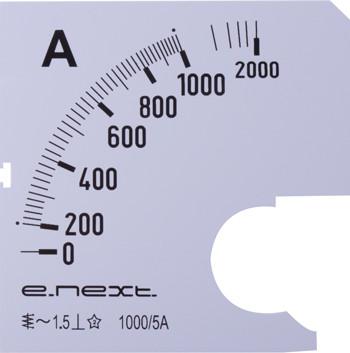 Шкала до амперметра щитового АС 1000А 72х72мм E.NEXT [s066008]
