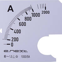 Шкала для амперметра щитового e.meter72.a1000.scale AC 1000A ENEXT [s066008]