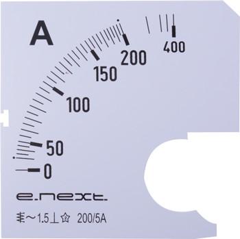 Шкала для амперметра щитового e.meter72.a200.scale AC 200A ENEXT [s066004]