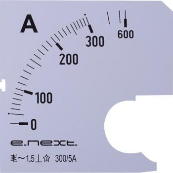 Шкала до амперметра щитового АС 300А 72х72мм E.NEXT [s066005]