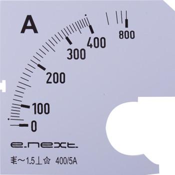Шкала для амперметра щитового e.meter72.a400.scale AC 400A ENEXT [s066006]