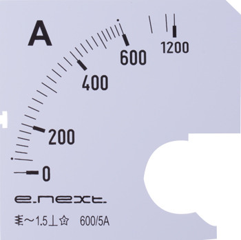Шкала для амперметра щитового e.meter72.a600.scale AC 600A ENEXT [s066007]