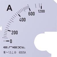 Шкала до амперметра щитового АС 600А 72х72мм E.NEXT [s066007]