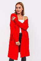 Плотный женский кардиган P-M - красный цвет, XL/XXL (есть размеры), фото 1