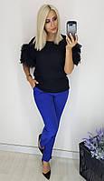 Женские брюки  48, 50, 52, 54 Цвет -синий, черный, мокко, электрик