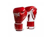Боксерские перчатки Everlast MX Hook & Loop 14 унций тренировочные, кожаные перчатки для бокса