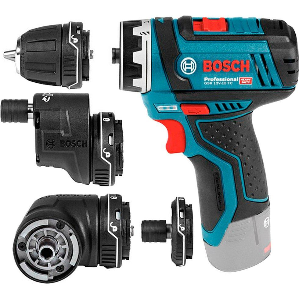 Аккумуляторный шуруповерт Bosch GSR 12V-15 FC + 4 насадки (06019F6003)