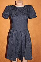 Нарядное платье из жаккарда, р. 42, S