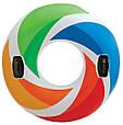 """Надувной круг Intex 58202 """"Вихрь цвета"""" с ручками (119 см), фото 5"""
