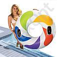 """Надувной круг Intex 58202 """"Вихрь цвета"""" с ручками (119 см), фото 6"""