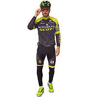 Велоформа длинный рукав SCOTT (черный-желтый)