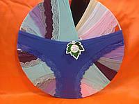 Трусы хлопок с кружевом  44-48рр, Один цвет в упаковке