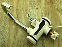 Проточный водонагреватель кран Делимано 3000W с термометром, мини бойлер с дисплеем (008) | AG460003